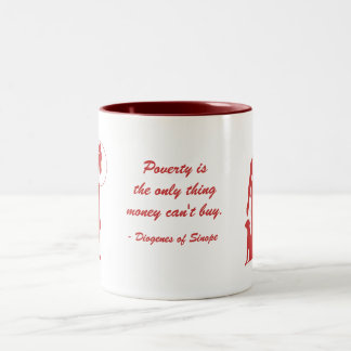 Diogenes Poverty (2) Two-Tone Mug
