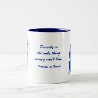 Diogenes Poverty (3) Two-Tone Mug