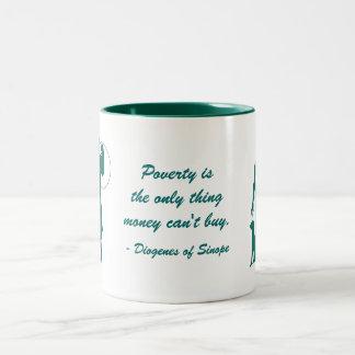 Diogenes Poverty Two-Tone Mug