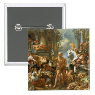 Diogenes Searching for an Honest Man, c.1650-55 (o 15 Cm Square Badge