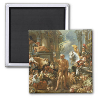 Diogenes Searching for an Honest Man, c.1650-55 (o Square Magnet