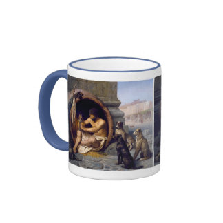 Diogenes Surrounded by Dogs - by Jean Leon Gerome Ringer Mug