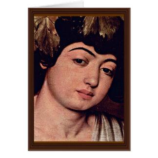 Dionysus Detail By Michelangelo Merisi Da Caravagg Greeting Card