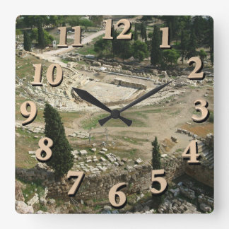 Dionysus Theater Square Wall Clock