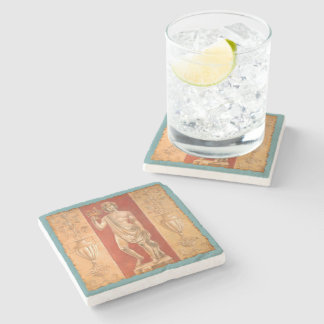 Dionysus with Urns Stone Beverage Coaster