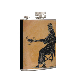 Dionysus with Wine Cup Hip Flask