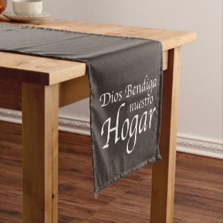 Dios Bendiga Nuestro Hogar: White Short Table Runner