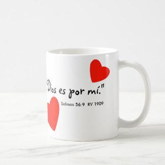 """Dios es por mí"" Tazon Basic White Mug"