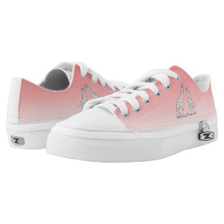 Dip-Dye Pink Ombre Giraffe Conservation Low Tops