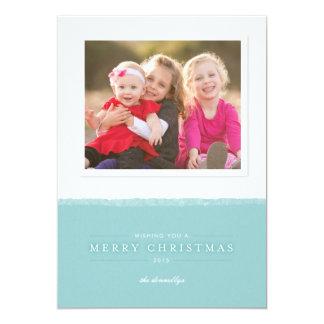 Dip-Dyed One-Photo Christmas Card 13 Cm X 18 Cm Invitation Card