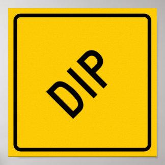 Dip Highway Warning Sign Print
