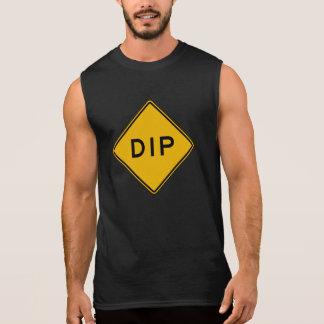 Dip, Traffic Warning Sign, USA Sleeveless Shirt