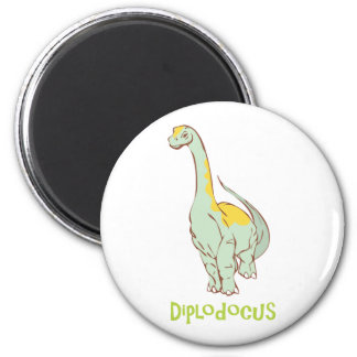 diplodocus 6 cm round magnet