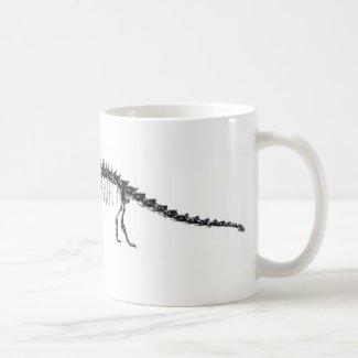 Diplodocus Dinosaur Antique Print Mug