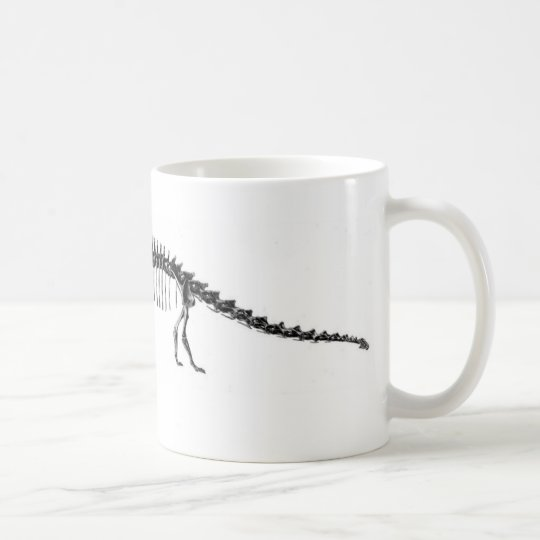 Diplodocus Dinosaur Antique Print Coffee Mug