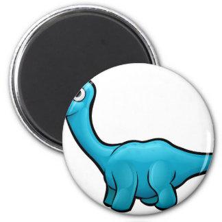 Diplodocus Dinosaur Cartoon Character Magnet