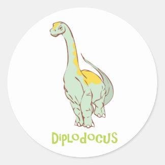 diplodocus round sticker