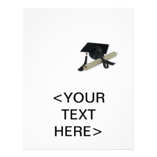 Diploma and Graduation Cap ( Mortar Board ) Personalized Flyer