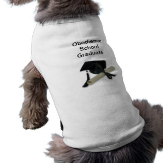 Diploma and Graduation Cap ( Mortar Board ) Sleeveless Dog Shirt