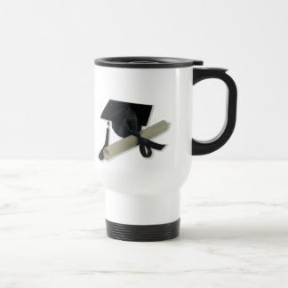 Diploma and Graduation Cap ( Mortar Board ) Stainless Steel Travel Mug