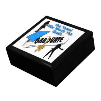 Diploma Blue Grad Cap (Female) Gift Box/Trinket Bo Gift Box