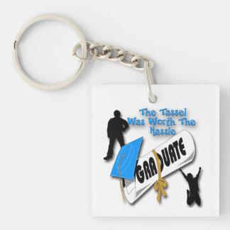 Diploma Blue Grad Cap (Male) Key Chains