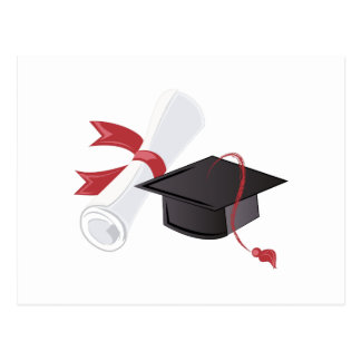 Diploma & Cap Postcard