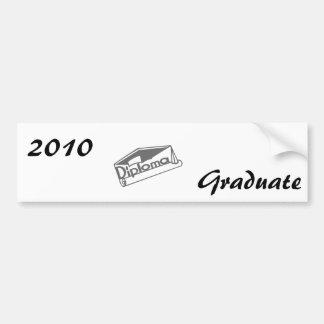 Diploma Car Bumper Sticker