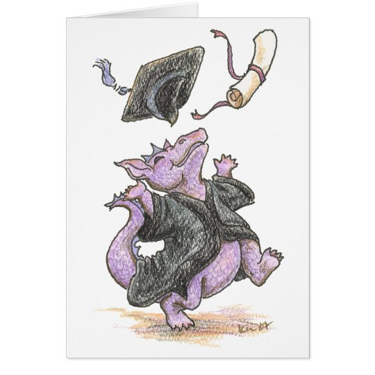 """Diploma Dragon"" Greeting and Note Cards"