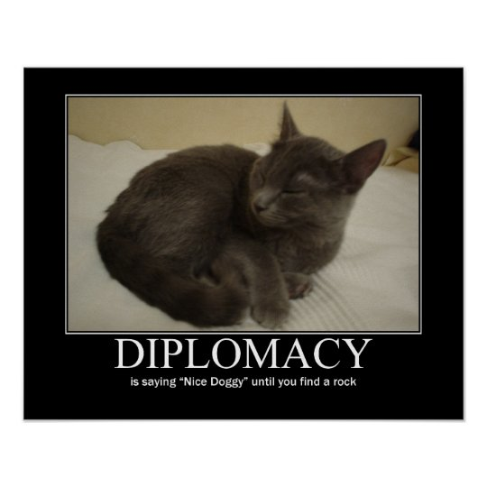 Diplomacy Cat Artwork Poster