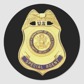 Diplomatic Security sticker (Black Background)