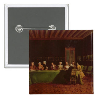 Diplomats Meeting (oil on canvas) 15 Cm Square Badge