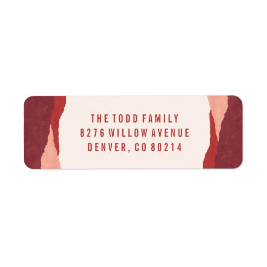 Dipped Holiday Address Label - Plum
