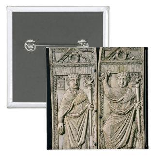Diptych of Boethius  Consul in 487 AD 15 Cm Square Badge
