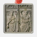 Diptych of Boethius  Consul in 487 AD Christmas Ornament