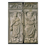 Diptych of Boethius  Consul in 487 AD Greeting Card