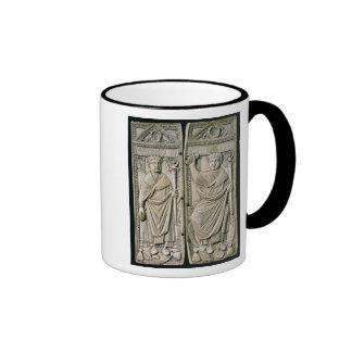 Diptych of Boethius  Consul in 487 AD Ringer Mug