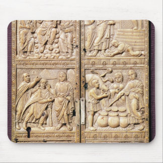 Diptych showing the Miracles of Christ Mouse Mat