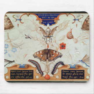Diptych with flowers and insects, 1591 mouse mat