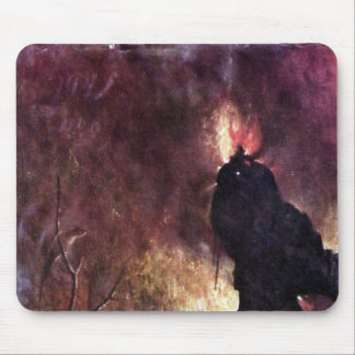 Diptych with scenes of Hell Mouse Pad