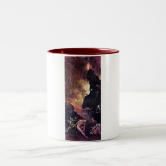 Diptych with scenes of Hell Two-Tone Mug