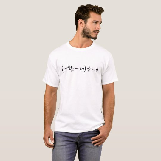 Dirac Equation Cool Science Mathematical Equations T-Shirt