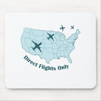 Direct Flights Mouse Pad