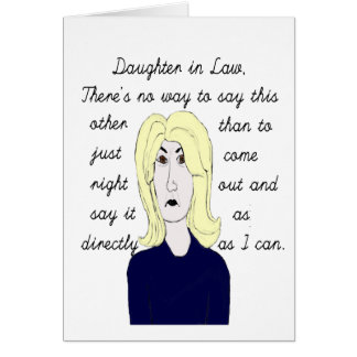 Direct to Daughter in Law Birthday Card.. Card