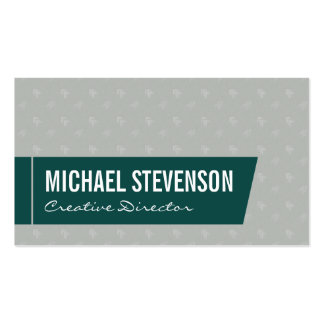 Directional (green) pack of standard business cards
