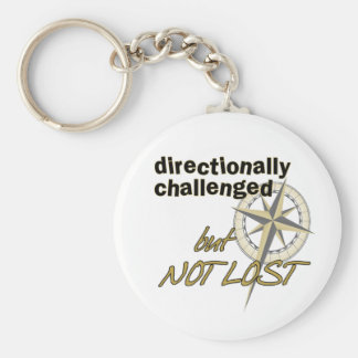 Directionally Challenged Keychain