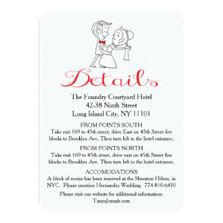 Directions Bride & Groom Black And White Wedding 11 Cm X 16 Cm Invitation Card