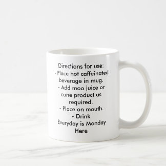 Directions for use:- Place hot caf... - Customized Coffee Mugs