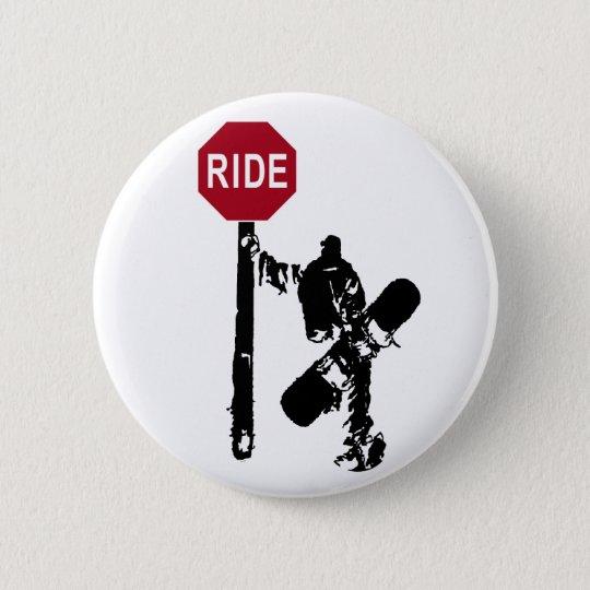 directions... ride? 6 cm round badge