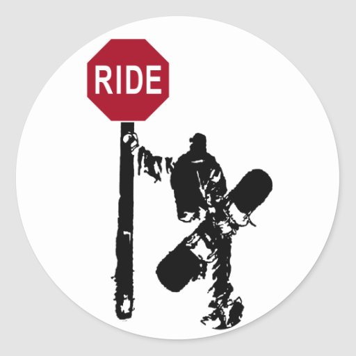 directions... ride? round stickers